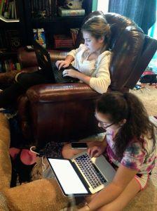 Katya working